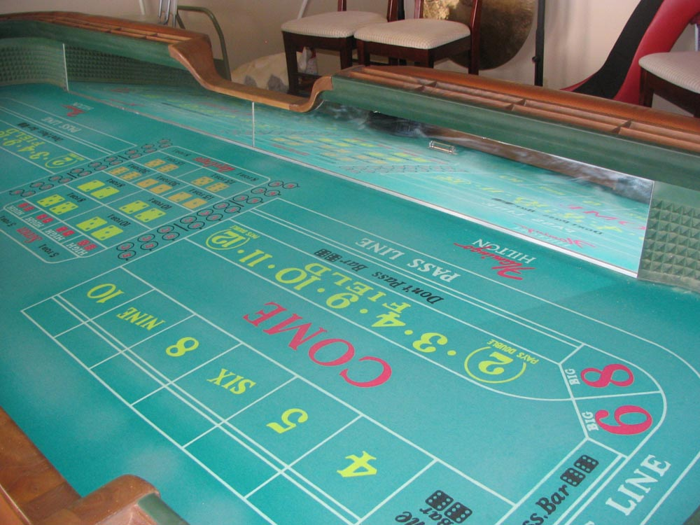 Real 13 craps casino table for 12 craps table